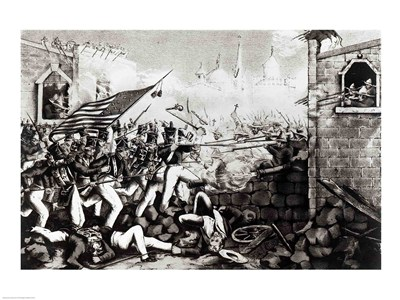 Battle of Monterey: The Americans Forcing their Way to the Main Plaza art print by Unknown for $32.50 CAD