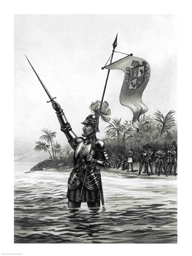 Balboa Claiming Dominion over the South Sea art print by Unknown for $32.50 CAD