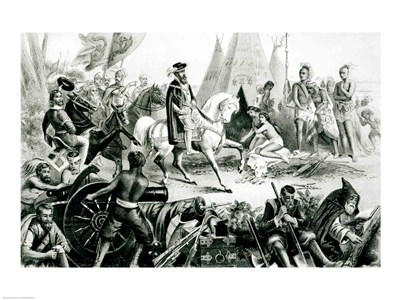 De Soto Discovering the Mississippi art print by Unknown for $32.50 CAD