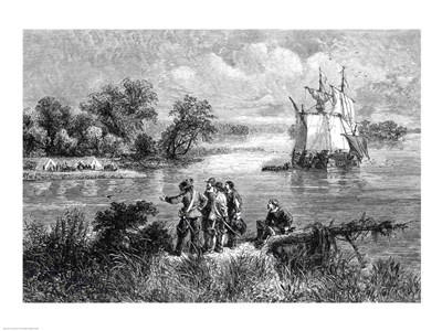 The Moravians Ascending the Delaware art print by Unknown for $32.50 CAD