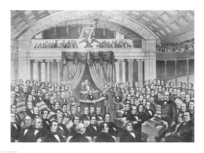 Daniel Webster addressing the United States Senate art print by Unknown for $32.50 CAD