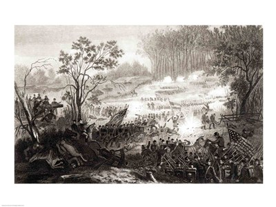 The Battle at Pittsburg Landing art print by Unknown for $32.50 CAD