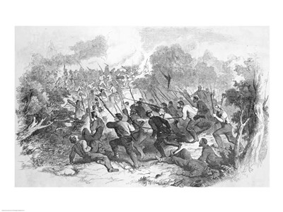 The Battle at Bull Run art print by Unknown for $32.50 CAD