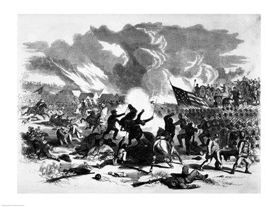 Great Battle at Wilson's Creek art print by Unknown for $32.50 CAD