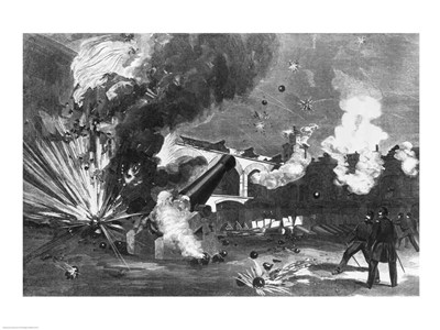 The Interior of Fort Sumter During the Bombardment, 12th April 1861 art print by Unknown for $32.50 CAD