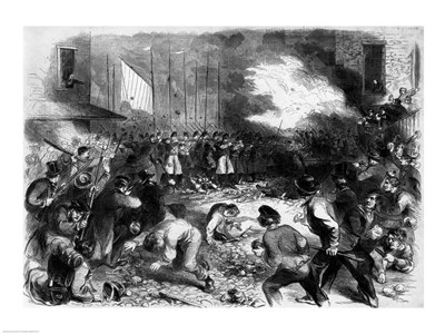The Sixth Regiment of the Massachusetts Volunteers Firing into the Mob on Pratt Street art print by Unknown for $32.50 CAD