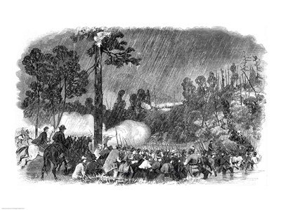 Battle at Corrack's Ford, Between the Troops of General McClellan's Command art print by Unknown for $32.50 CAD