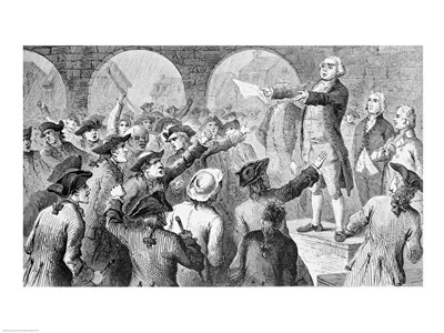 John Lamb speaking at the Sons of Liberty Meeting at New York City Hall Concerning the Landing of British Tea in New York art print by Unknown for $32.50 CAD