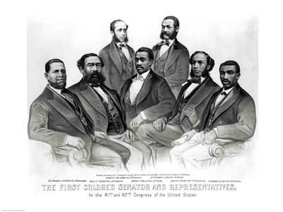 The First Colored Senator and Representatives art print by Unknown for $32.50 CAD
