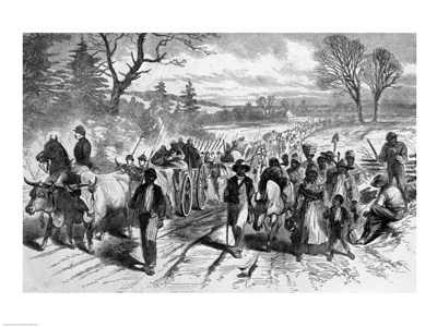 The Effects of the Proclamation: Freed Negroes Coming into Our Lines at Newbern, North Carolina art print by Unknown for $32.50 CAD