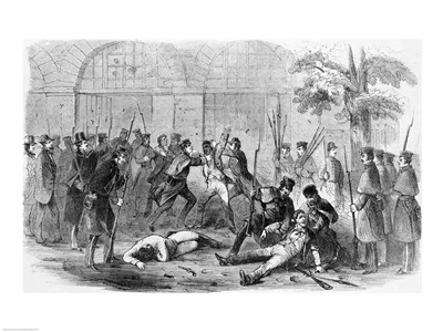 Harper's Ferry Insurrection: Bringing the Prisoners Out of the Engine-House art print by Unknown for $32.50 CAD