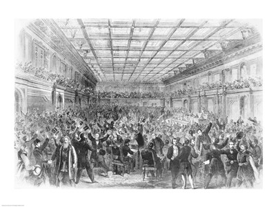 Exciting Scene in the House of Representatives art print by Unknown for $32.50 CAD
