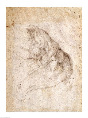 Study for The Creation of Adam art print by Michelangelo Buonarroti for $32.50 CAD
