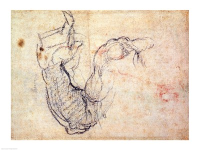 Preparatory Study for the Arm of Christ in the Last Judgement, 1535-41 art print by Michelangelo Buonarroti for $32.50 CAD