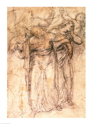 Study of Mourning Women art print by Michelangelo Buonarroti for $32.50 CAD