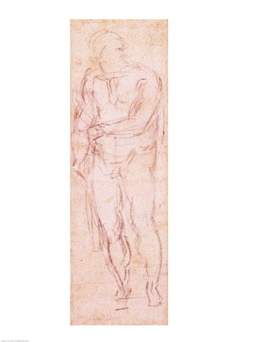 Study for Adam in 'The Expulsion', 1508-12 art print by Michelangelo Buonarroti for $32.50 CAD