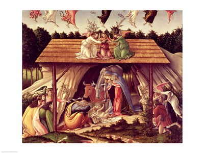 Mystic Nativity, 1500 (detail 1) art print by Sandro Botticelli for $32.50 CAD
