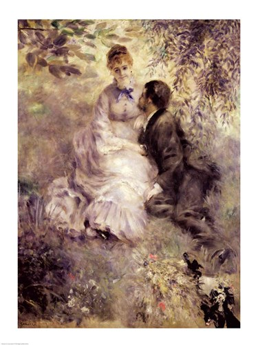 The Lovers art print by Pierre-Auguste Renoir for $32.50 CAD