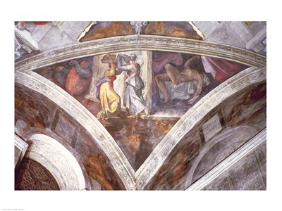 Sistine Chapel Ceiling: Judith Carrying the Head of Holofernes art print by Michelangelo Buonarroti for $32.50 CAD