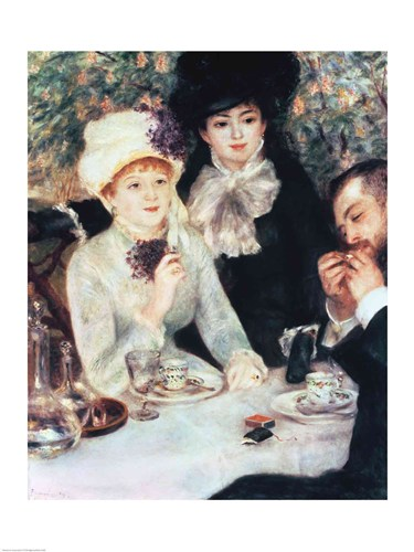 The End of Luncheon, 1879 art print by Pierre-Auguste Renoir for $30.00 CAD