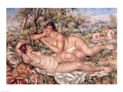 The Bathers - nude women art print by Pierre-Auguste Renoir for $30.00 CAD