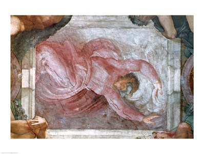 Sistine Chapel Ceiling: God Dividing Light from Darkness art print by Michelangelo Buonarroti for $32.50 CAD