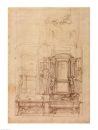 W.26r Design for the Medici Chapel in the church of San Lorenzo, Florence art print by Michelangelo Buonarroti for $32.50 CAD