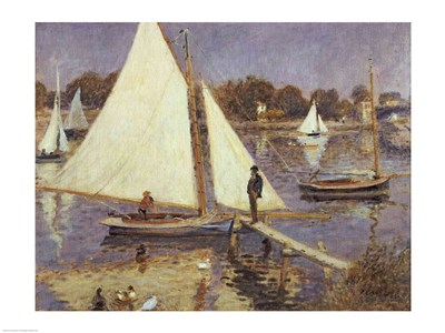 The Seine at Argenteuil, 1874 art print by Pierre-Auguste Renoir for $32.50 CAD