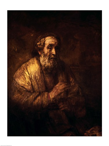 Homer Dictating to a Clerk, 1663 art print by Rembrandt van Rijn for $30.00 CAD