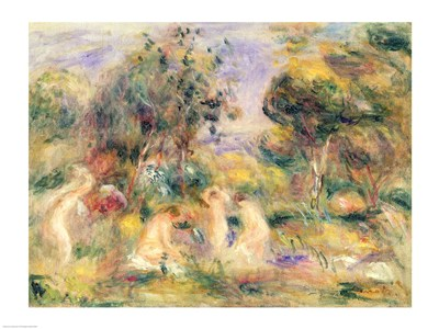 The Bathers - nude art print by Pierre-Auguste Renoir for $30.00 CAD