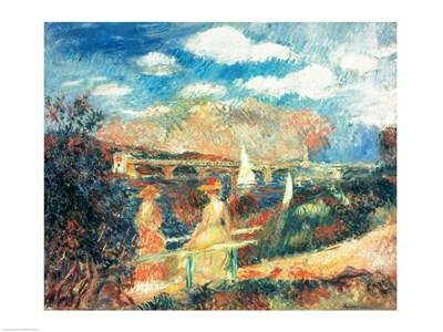 The banks of the Seine at Argenteuil, 1880 art print by Pierre-Auguste Renoir for $32.50 CAD