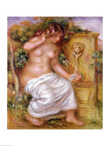 The Bather at the Fountain, 1914 art print by Pierre-Auguste Renoir for $30.00 CAD