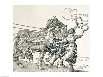 Triumphal Chariot of Emperor Maximilian I of Germany: horse detail art print by Albrecht Durer for $32.50 CAD