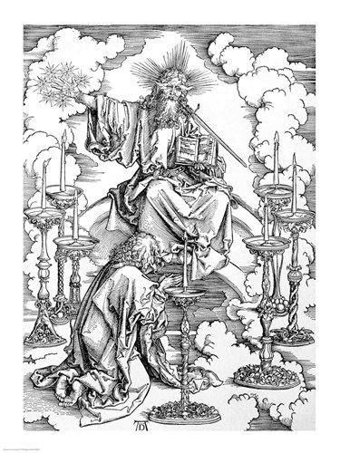 The Vision of The Seven Candlesticks from the 'Apocalypse' art print by Albrecht Durer for $30.00 CAD