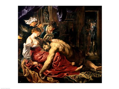 Samson and Delilah, c.1609 art print by Peter Paul Rubens for $30.00 CAD