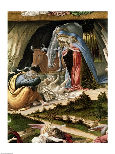 Mystic Nativity, 1500 (detail 2) art print by Sandro Botticelli for $32.50 CAD