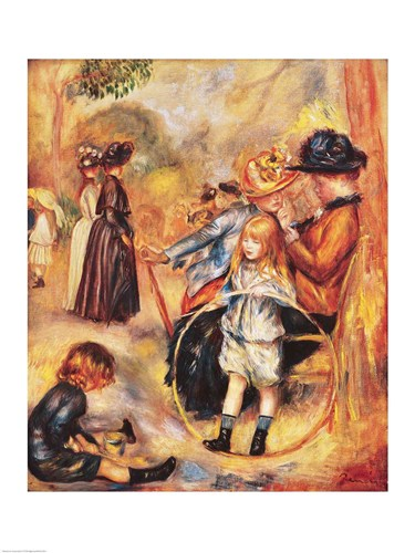 In the Luxembourg Gardens, 1883 art print by Pierre-Auguste Renoir for $30.00 CAD