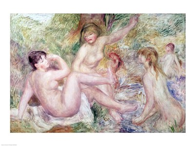 Study for the Large Bathers, 1885-1901 art print by Pierre-Auguste Renoir for $30.00 CAD
