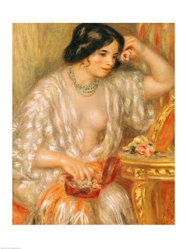 Gabrielle with Jewellery, 1910 art print by Pierre-Auguste Renoir for $30.00 CAD