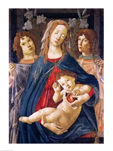 Virgin of the Pomegranate art print by Sandro Botticelli for $30.00 CAD