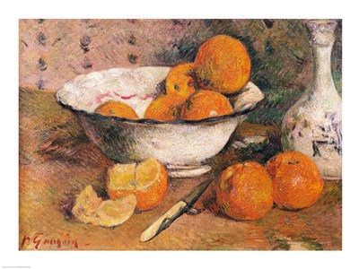 Still life with Oranges, 1881 art print by Paul Gauguin for $32.50 CAD