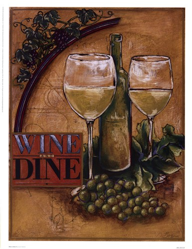 Wine and Dine II art print by Susan Osborne for $23.75 CAD