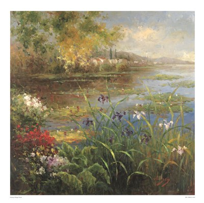 Village Pond art print by Hulsey for $51.25 CAD