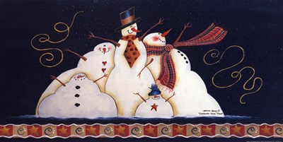 Celebrate Snow Times art print by Bonnee Berry for $15.00 CAD