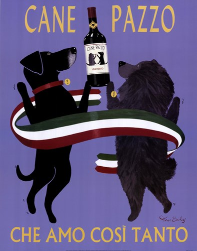 Cane Pazzo art print by Ken Bailey for $47.50 CAD