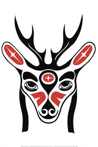 Deer art print by French Lon for $21.25 CAD