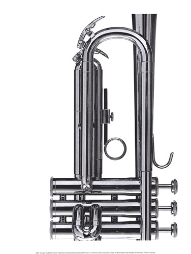 Trumpet art print by Michel Ditlove for $18.75 CAD