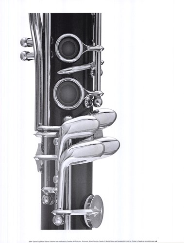 Clarinet art print by Michel Ditlove for $30.00 CAD