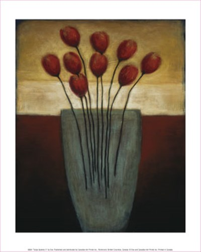 Tulips Aplenty II art print by Eve for $8.75 CAD