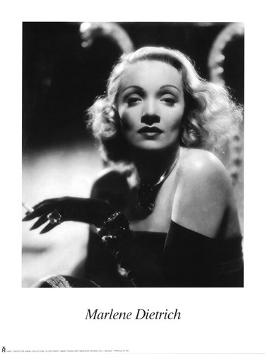 Marlene Dietrich - Black and white art print by Unknown for $20.00 CAD